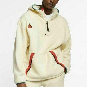 Nike ACG Sherpa Fleece Cream Hoodie M